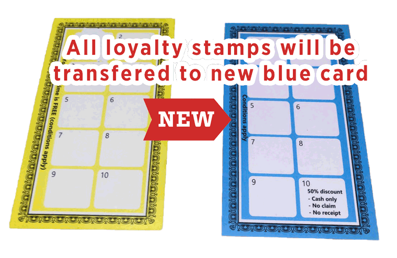 Yellow to Blue loyalty Card
